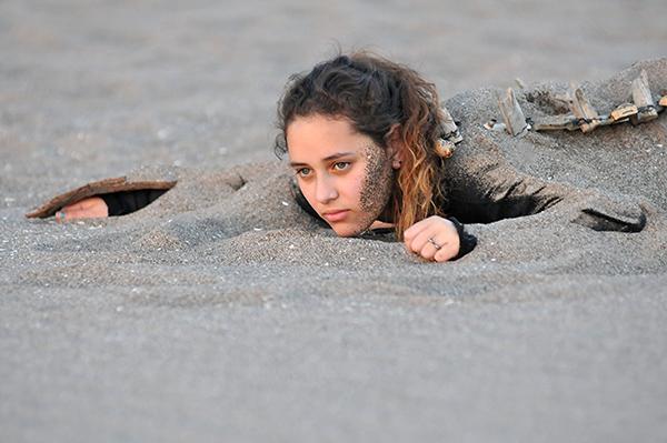 True Life Fund PRIMAS film still - Rocío Álvarez on beach